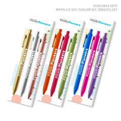 Soft Touch Pen 3-Pack with Bookmark: Brights Set