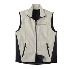 North End® Men's Three-Layer Light Bonded Performance Soft Shell Vest (Vintage Logo)