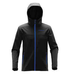 Stormtech™ Orbiter Softshell with Hood - Black/Azure Blue