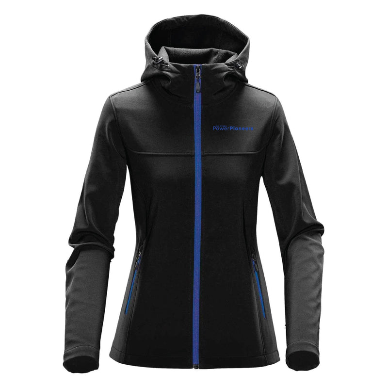 Stormtech™ Women's Orbiter Softshell with Hood - Black/Azure Blue