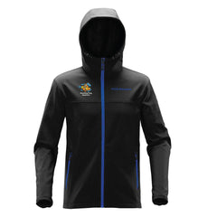 Stormtech™ Orbiter Softshell with Hood - Black/Azure Blue (Aquarium Team)