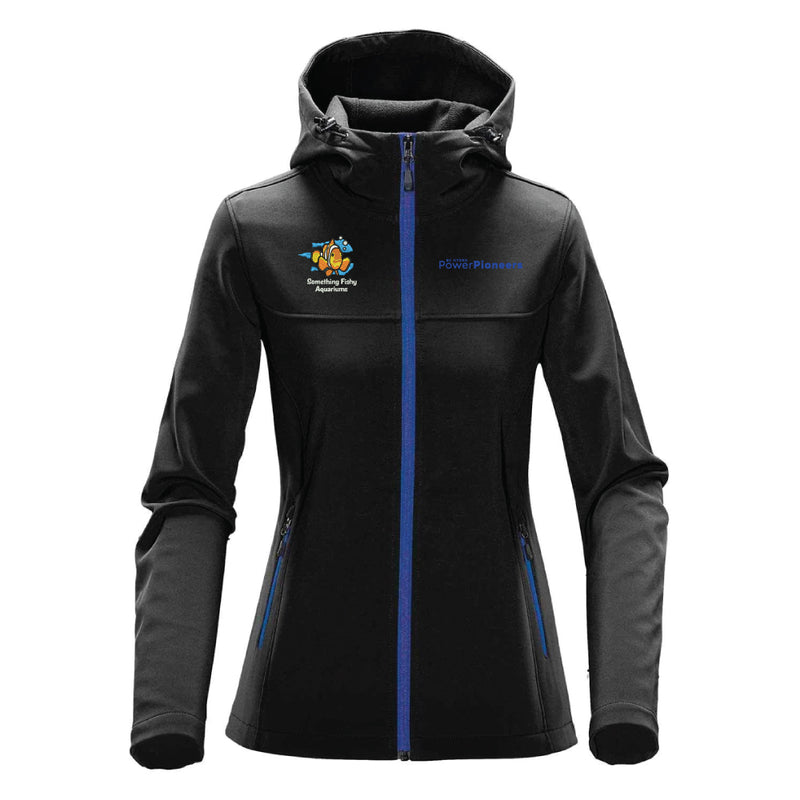 Stormtech™ Women's Orbiter with Hood - Black/Azure Blue (Aquarium Team)