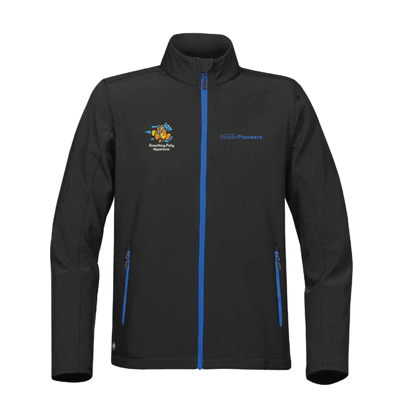 Stormtech™ Orbiter Softshell - Black/Azure Blue (Aquarium Team)