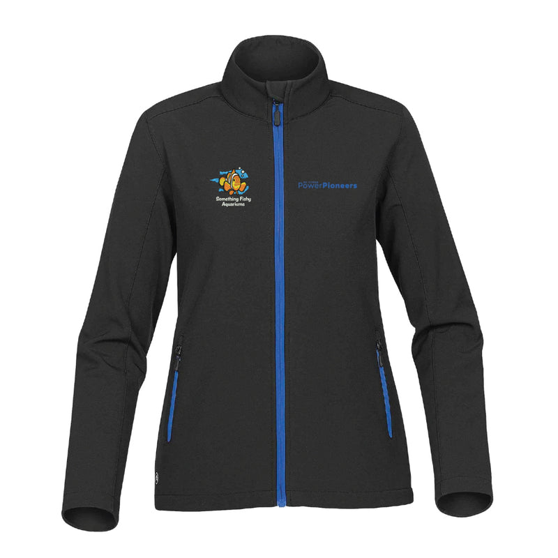 Stormtech™ Women's Orbiter Softshell - Black/Azure Blue (Aquarium Team)