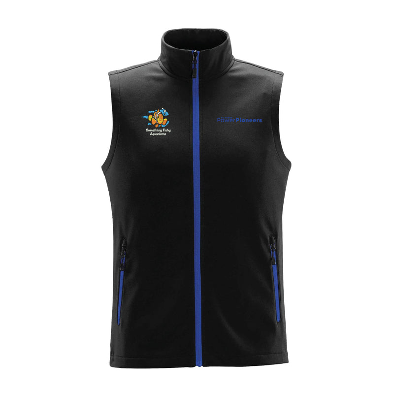 Stormtech™ Orbiter Softshell Vest - Black/Azure Blue (Aquarium Team)