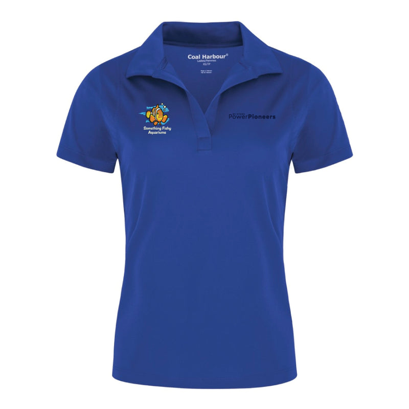 Coal Harbour® Snag Resistant Ladies Polo Shirt - Royal (Aquarium Team)
