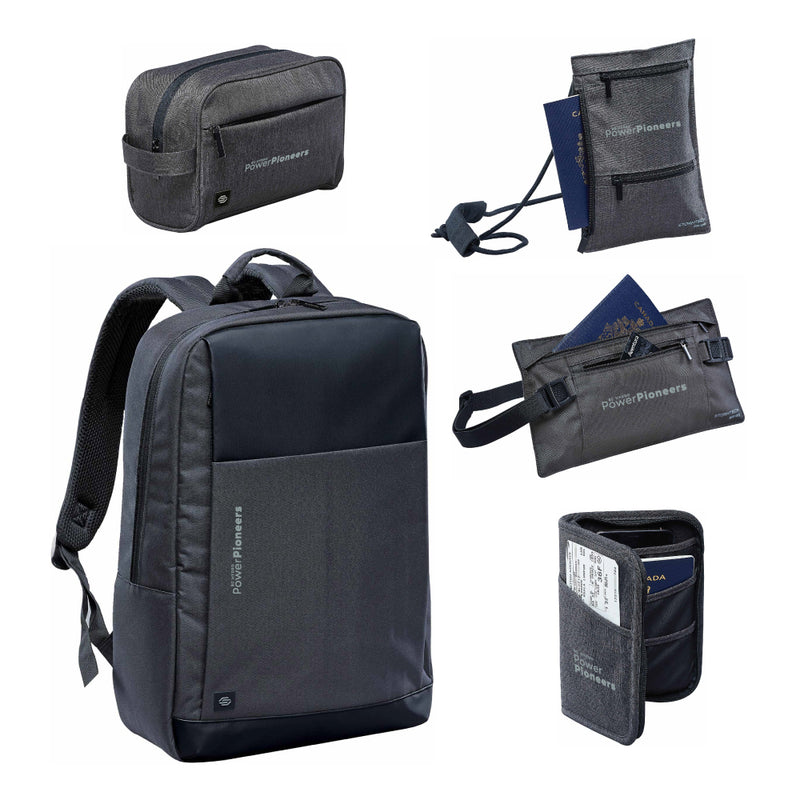 Stormtech™ Cupertino 5-Piece Travel Bundle - Graphite/Black