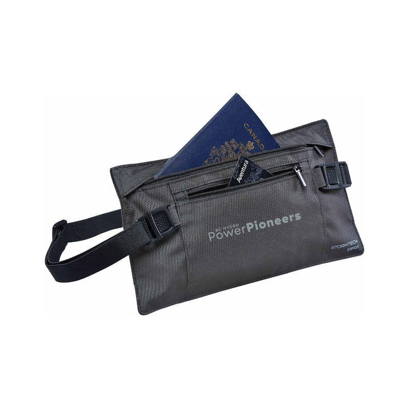 Stormtech™ Cupertino RFID Document Belt - Graphite/Black