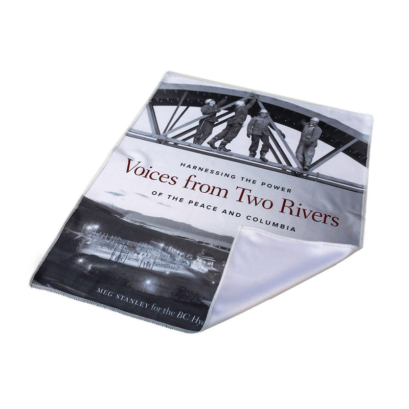 "Microfiber Lens Cleaning Cloth - ""Voices from Two Rivers"""