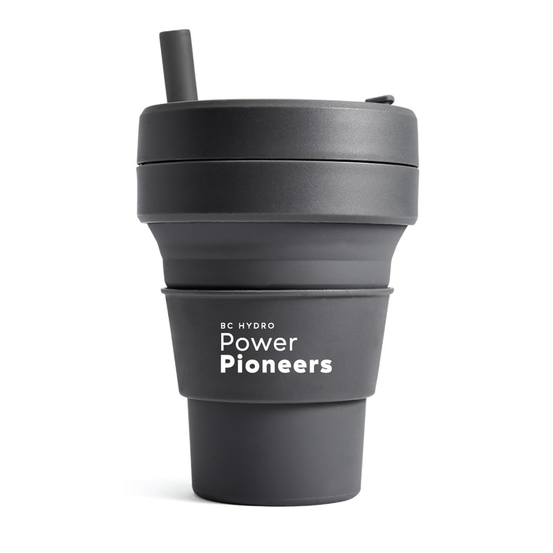 Stojo® Pocket Cups 16 oz. - Carbon