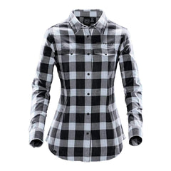 Stormtech™ Women's Logan Snap Front Shirt - Titanium Plaid