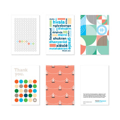 Modern Thank You Art Cards<br>(Set of 5)