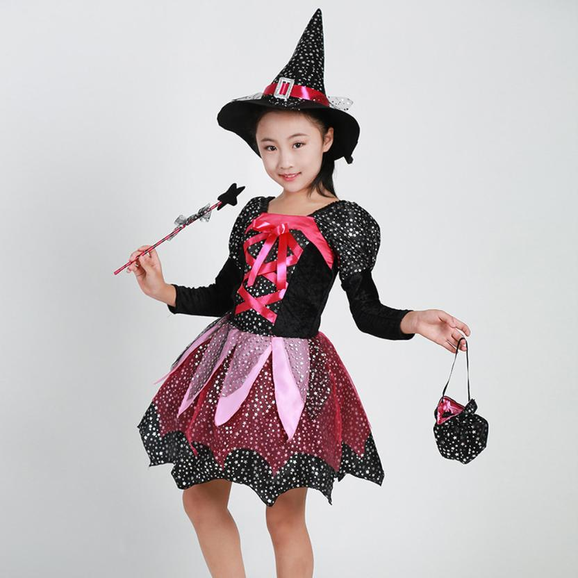 Kids Baby Set Girls Halloween Clothes Costume Dress Party Dresses   Hat Outfit