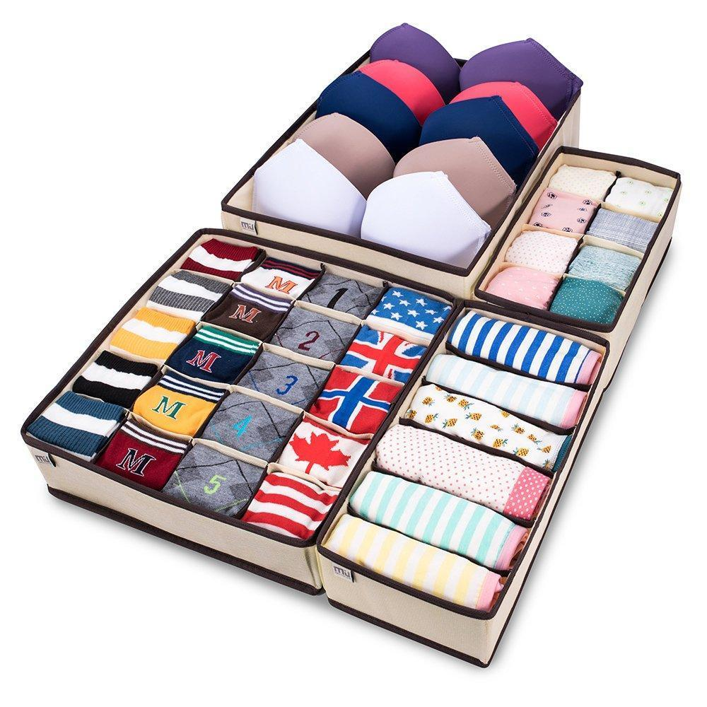 Foldable Closet Underwear Organizer (4pc Set)