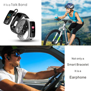 2-in-1 Smart Bracelet with Bluetooth Earphone