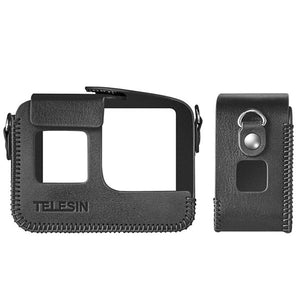 Telesin Leather Case with Strap for GoPro Hero 8 Action Camera