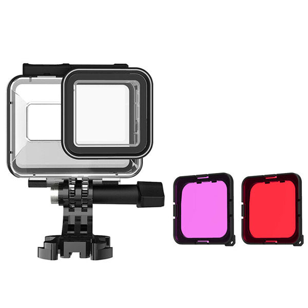 Telesin Waterproof Case with Red and Purple Filters for GoPro Hero 8 Action Camera