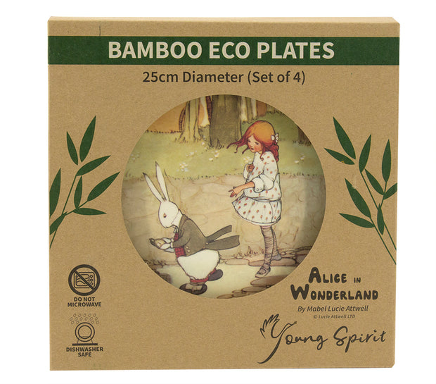 Alice in Wonderland Bamboo Plates (Set of 4)