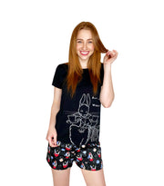 Ladies The Mad Hatter Cotton Sateen Short
