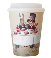 Alice in Wonderland Reusable Bamboo Coffee Cup - The Mad Hatter