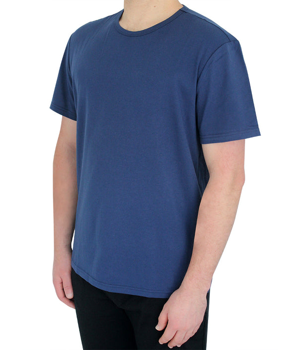 Mens Navy Short Sleeve Cotton Jersey T-Shirt