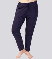 Alice in Wonderland Navy Cotton Blend Tapered Pant