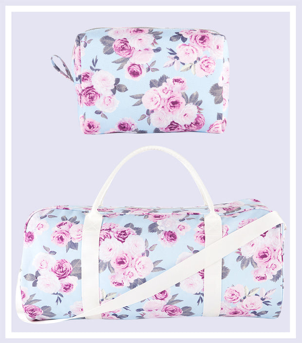 Icy Rose Duffle Bag & Makeup Bag Gift Set