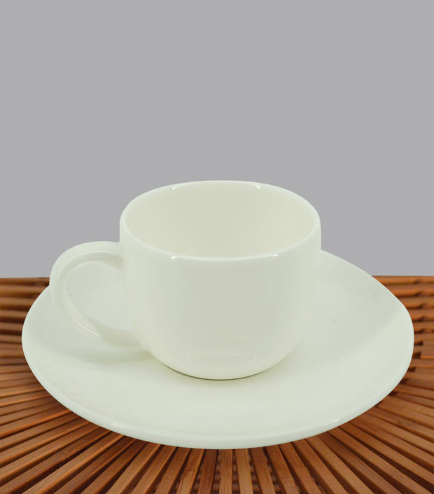 Fine Bone China Espresso Cup and Saucer (Set of 2)