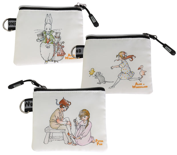 Alice In Wonderland Coin & Jewellery Purse - Mouse with Rabbit
