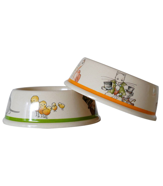 Eco Bamboo - Alice In Wonderland Bamboo Pet Bowls Set B (Set Of 2)  | Young Spirit Australia