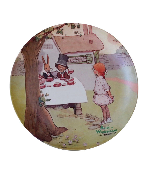 Eco Bamboo - Alice In Wonderland Bamboo Plates (Set Of 4)  | Young Spirit Australia