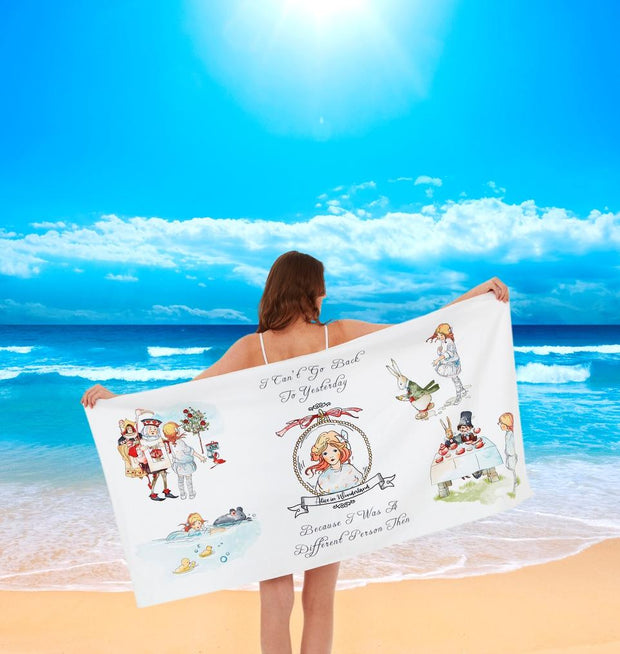 Beach Towel - Alice In Wonderland Quick Dry Microfibre Beach Travel Towel | Young Spirit Australia