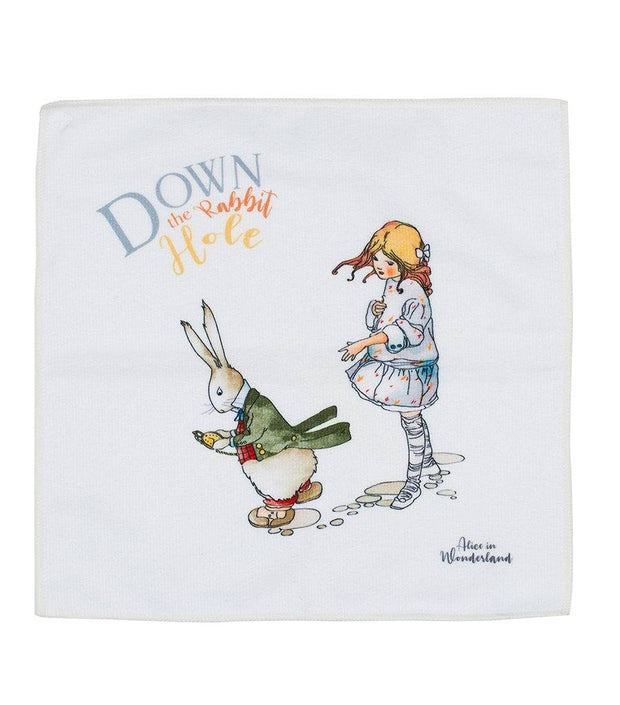 Face Cloth - Quick Dry Microfibre Face Cloth - Alice In Wonderland Down The Rabbit Hole | Young Spirit Australia