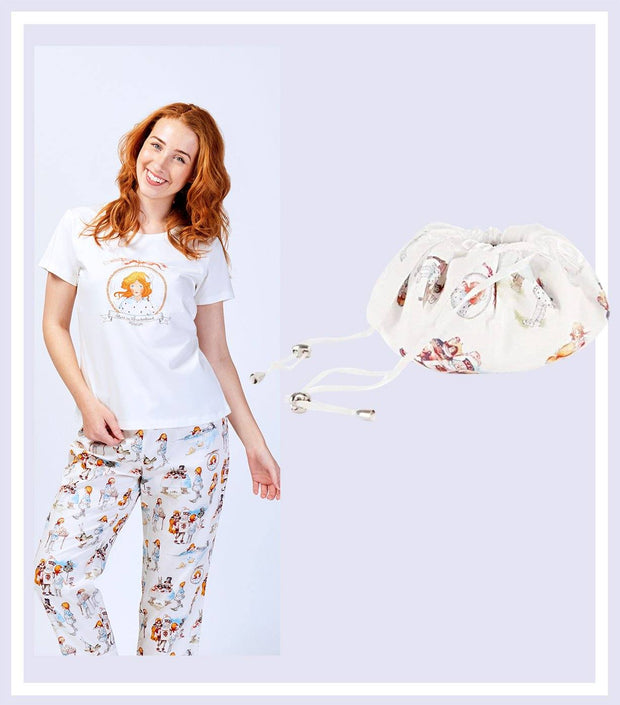 Women's Gift Set - Alice In Wonderland T-shirt With Pant & Drawstring Bag Gift Set  | Young Spirit Australia