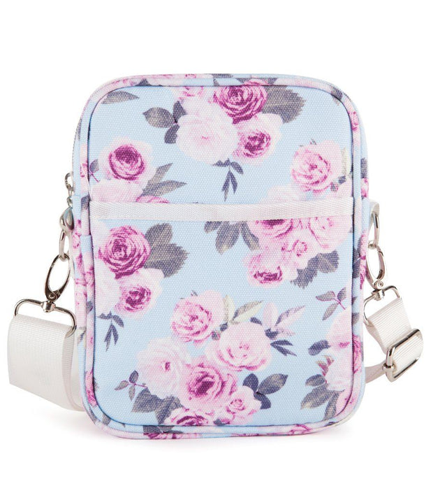 Icy Rose Woman's Canvas Cross Body Travel Bag | Young Spirit Australia