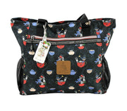 Travel Bag - Alice In Wonderland Canvas Laptop Work Tote Bag - The Mad Hatter | Young Spirit Australia