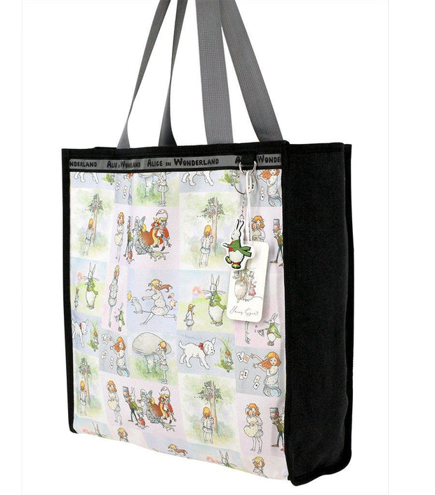 Travel Bag - Alice In Wonderland Canvas Multi-Use Tote Bag - Alice Watercolor Stories  | Young Spirit Australia