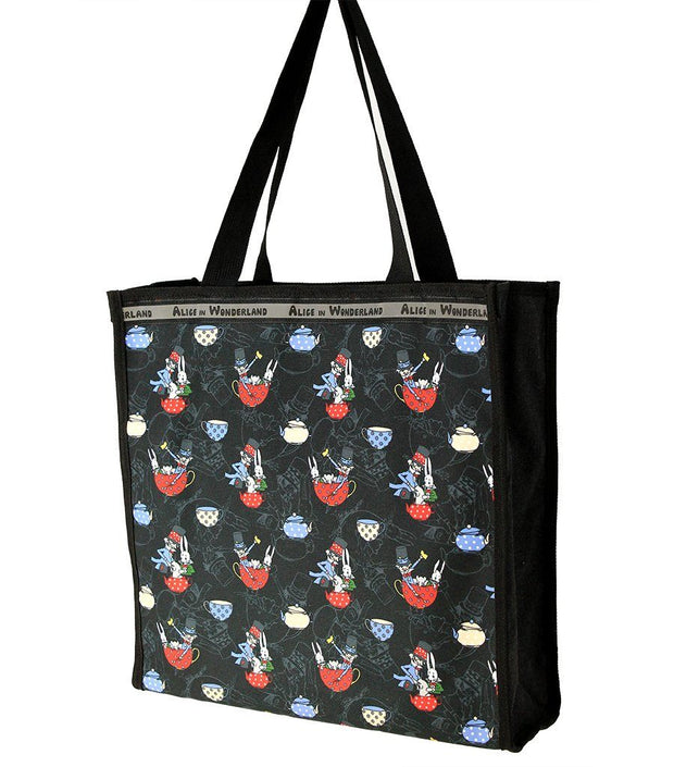 Travel Bag - Alice In Wonderland Canvas Multi-Use Tote Bag - The Mad Hatter | Young Spirit Australia