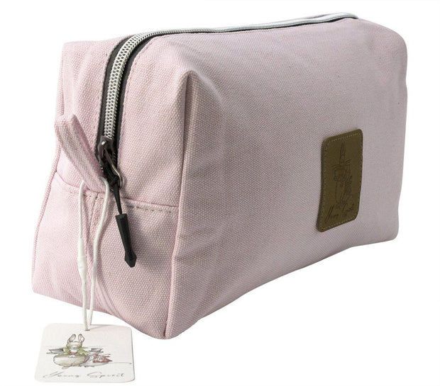 Travel Bag - Alice In Wonderland Extra Large Canvas Cosmetic Bag - Pink  | Young Spirit Australia