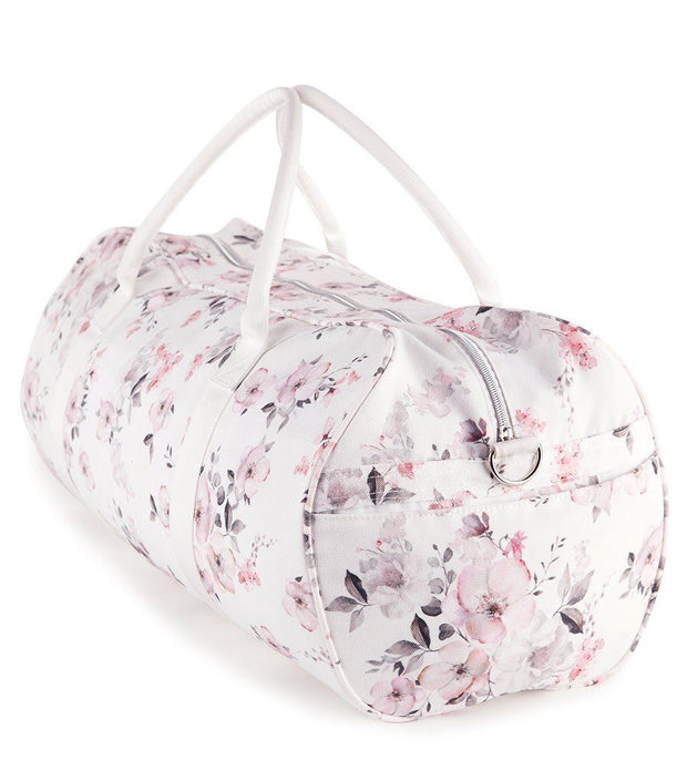 Water Floral Women's Canvas Zip Top Travel Duffle Bag  | Young Spirit Australia