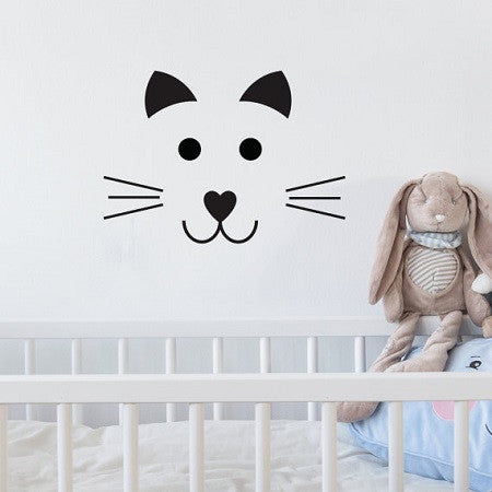 Wall Sticker Cat Face