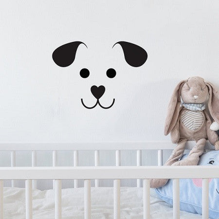 Wall Sticker Dog Face