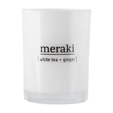 Meraki white tea & ginger candle