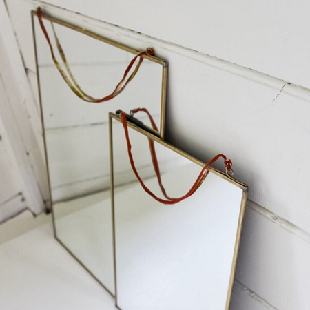 KIKO ANTIQUE BRASS MIRROR