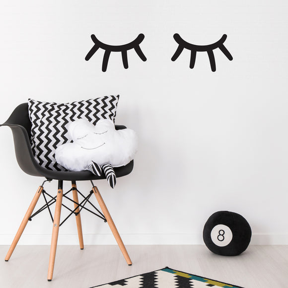 eyelash wall stickers