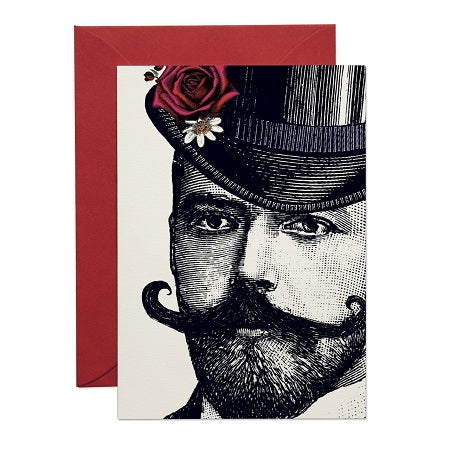 DASHING GENT GREETING CARD