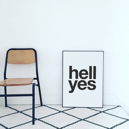 Hell Yes Print (black Text)