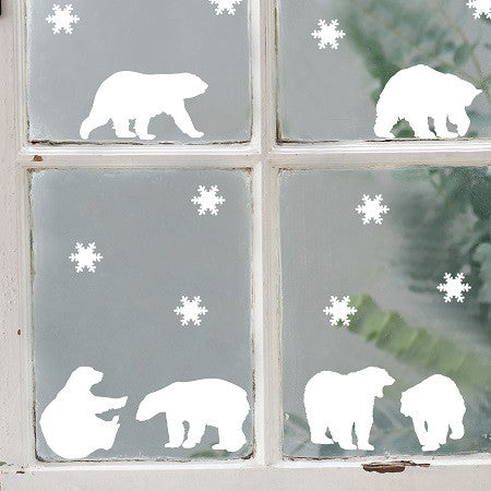 polar bear wall stickers