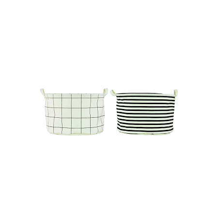 Squares and Stripes Storage Bags