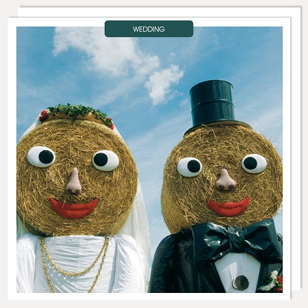 Straw Wedding Card